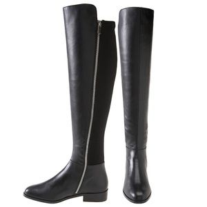 Michael Kors Bromley Leather Knee High Boots